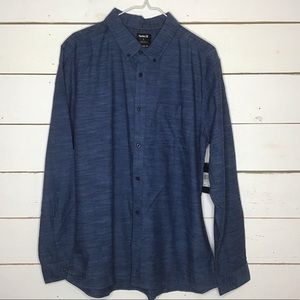 New Hurley OAO 2.0 Long Sleeve Shirt Classic Fit